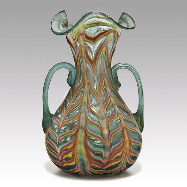 Rare Fratelli Toso Green Fenicio Vase 1900 Kocoma