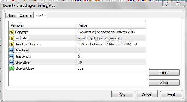 Snapdragon Trading Free Metatrader 4 Trailing Stop Ea