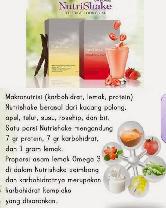 Nutrishake oriflame menambah berat badan