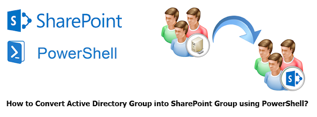 convert active directory group to sharePoint group using powershell