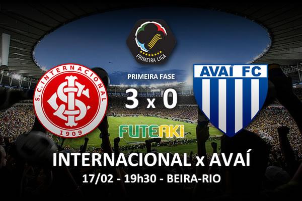 Veja o resumo da partida com os gols e os melhores momentos de Internacional 3x0 Avaí pela 2ª rodada da Copa Sul-Minas-Rio 2016.
