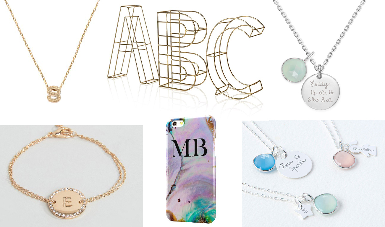 The Completely Personalised Gift Guide, Katie Kirk Loves, Gift Guide, Personalised Gifts, Customised Gifts, Christmas Gift Ideas, Gift Ideas, UK Blogger, Engraved Jewellery, Alphabet Gifts, Initial Gifts