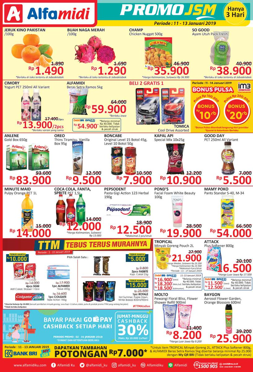 #Alfamidi - Promo Katalog JSM Periode 11 - 13 Januari 2019