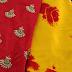 Satin Shibori Saree with designer blouses