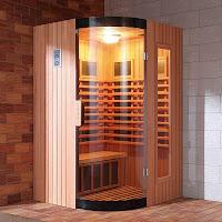 Banyoya kurulmuş ev tipi sauna kabini