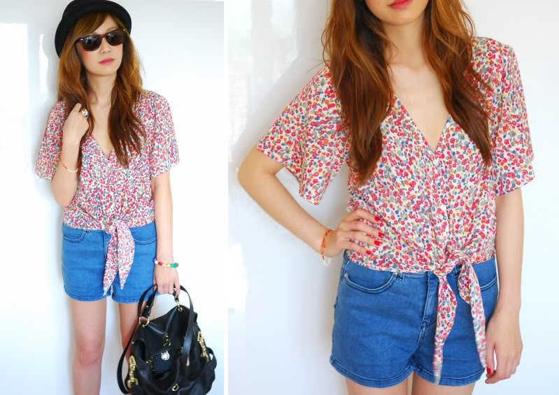 how to style denim shorts in summer