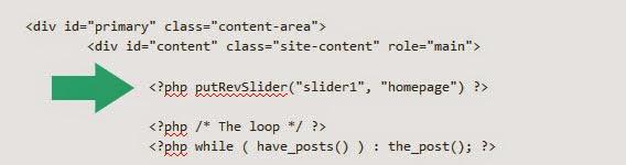 The PHP Method sửa lỗi Revolution Slider Error