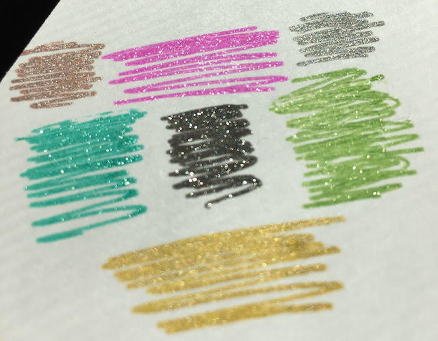 silhouette glitter sketch pens, silhouette pens, new silhouette sketch pens