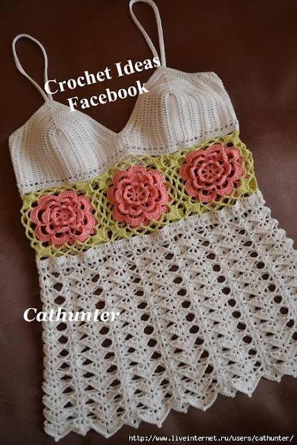 Patrón 1067 Blusa a Crochet