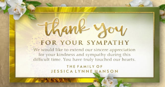 Golden Sunflower Sympathy Thank You Card Julie Alvarez Designs