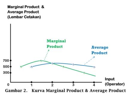 Kurva Marginal Product dan Average Product - www.ajarekonomi.com