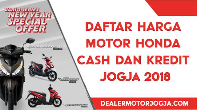 Daftar Harga Kredit Motor Honda Januari 2018
