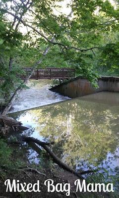 Spring Mill Lake spillway