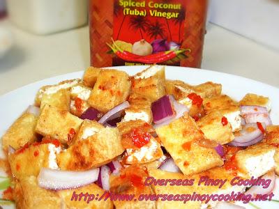 Tokwa't Pinakurat, Firm Tofu with Pinakurat Vinegar