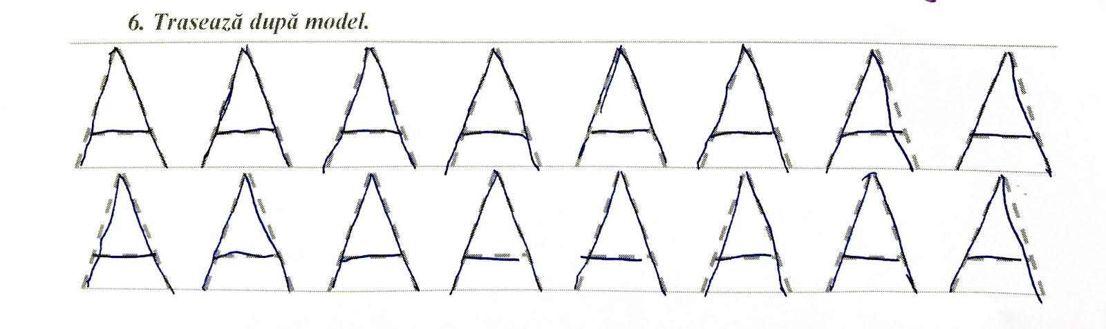 Alfabetul la pregătitoare- exerciții pentru însușirea literei A/a
