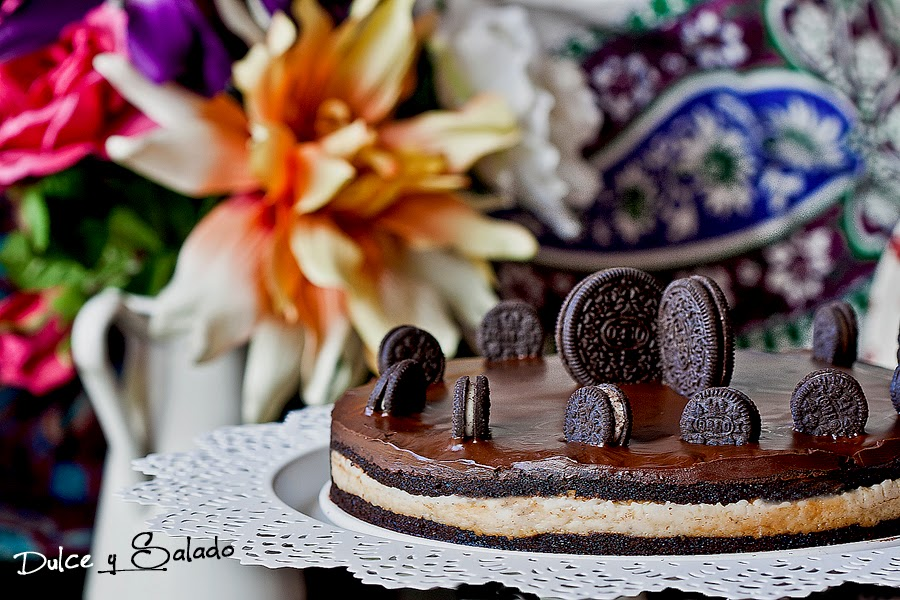 Tarta de Oreo, Chocolate y Queso