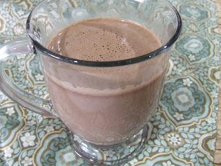 Paleo & Vegan Hot Chocolate in a clear glass