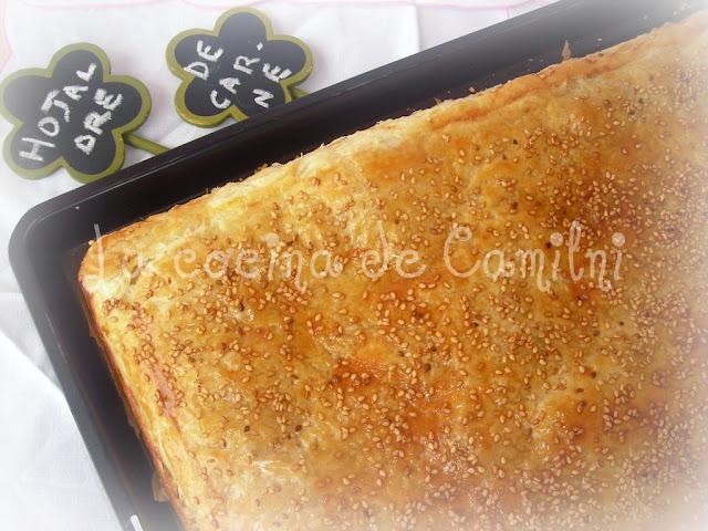 Hojaldre con carne del cocido (La cocina de Camilni)