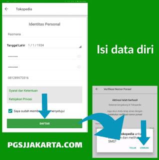 Tahap Registrasi Profil Tokopedia