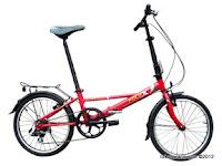 Sepeda Lipat FoldX Yokohama 7 Speed Shimano 20 Inci