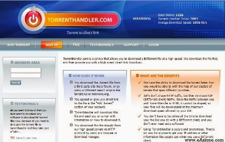 Torrent Handler : Convert Torrent Download Into HTTP Download : eAskme