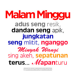 Kata Kata Malam Minggu Lucu Bahasa Jawa