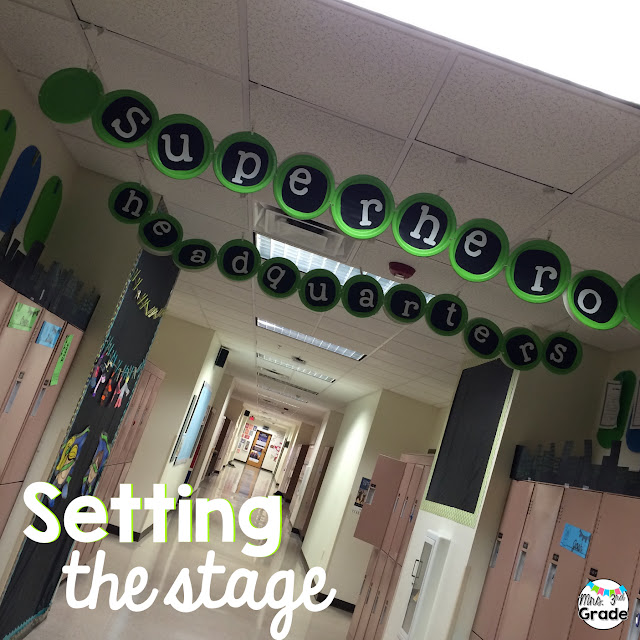 Setting the stage for a day of learning is a great way to get students excited about your special themed days!