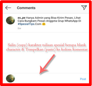 Cara Komentar Kosong Di Instagram