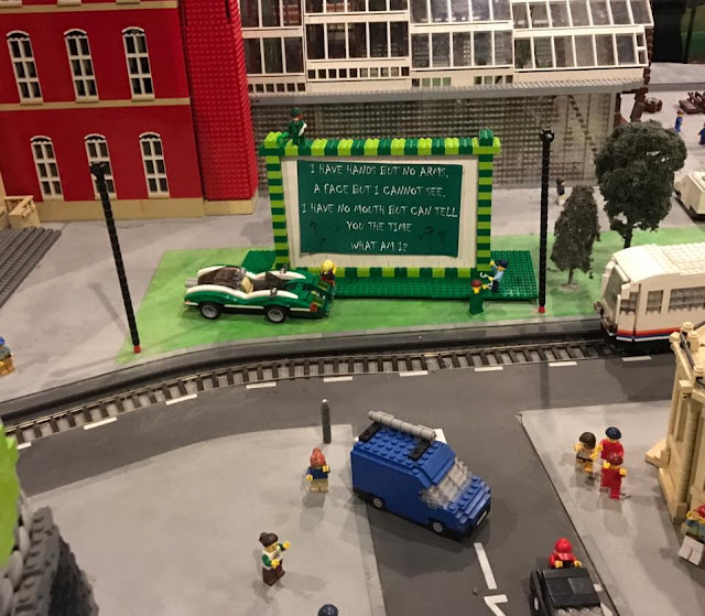 the LEGO RIDDLER IN MINILAND