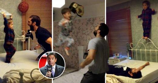 Padre Genial le pone sonido de la WWE a videos con su hijo