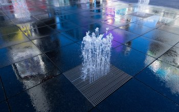 Wallpaper: Reflections in Dundas Square