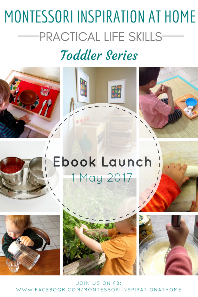 Montessori Inspiration at Home: Practical Life Skills - Toddler Series #montessori, #montessoriathome