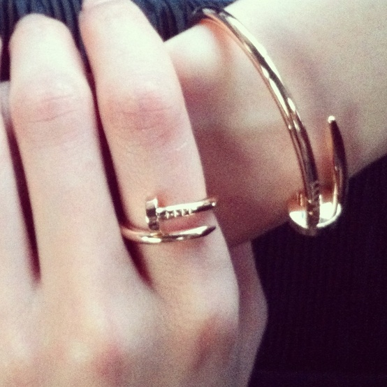 boulu: cartier nail bracelet and ring