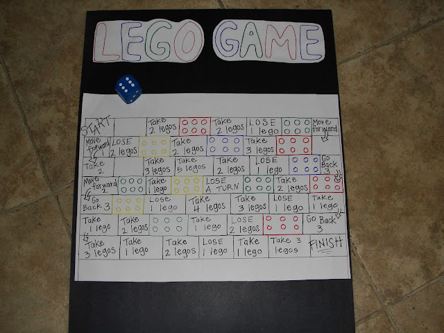 Lego game for the party goers to play