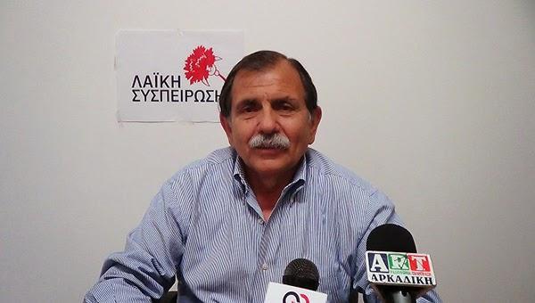 Βαγγέλης Γούργαρης: Εμπορευματοποιούν και ιδιωτικοποιούν τα νερά της Πελοποννήσου