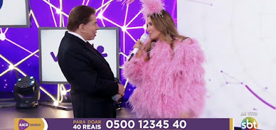 """""""Você me deixa excitado com essa roupa"""", Silvio Santos assedia e constrange Claudia Leitte"""