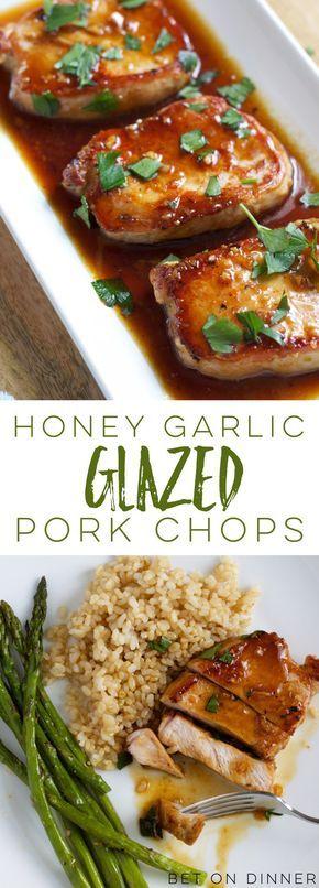 Honey Garlic Pork Chops #DINNER #EASY #PORKCHOPS