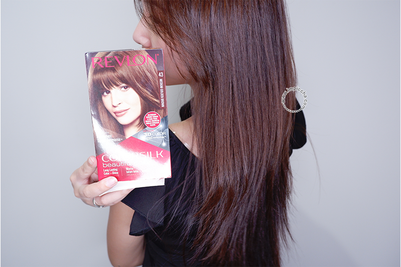 Result - Revlon ColorSlik Medium Golden Brown 43