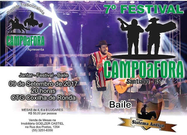 Confira as classificadas para o 7º Festival Campo a Fora