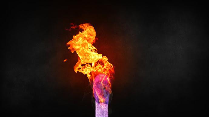 Wallpaper: Burning Match