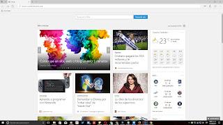 Nueva pestaña de Microsoft Edgeen Windows 10
