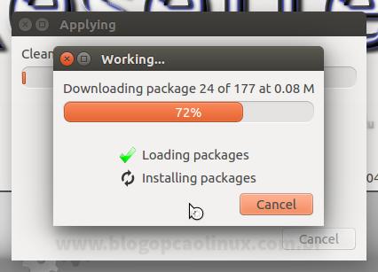 O Resetter fará o download dos pacotes pré-instalados que estão faltando em seu sistema e os instalará em seguida