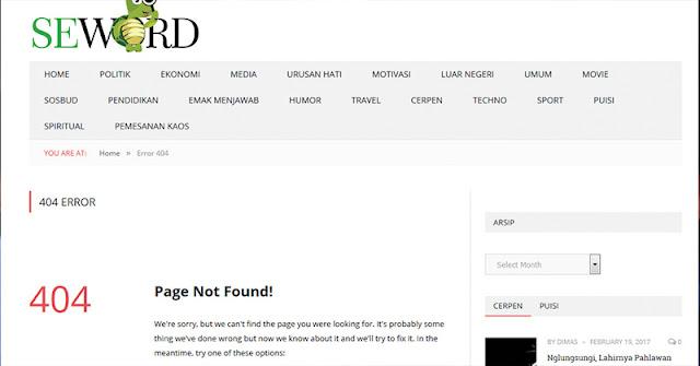 Tulis Hoax, Situs Seword.com Terancam Kena UU ITE