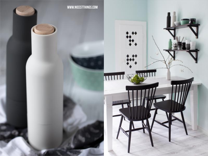 Menu Bottle Grinder Küche Wandfarbe Mintgrün Vinyldielen Gerflor