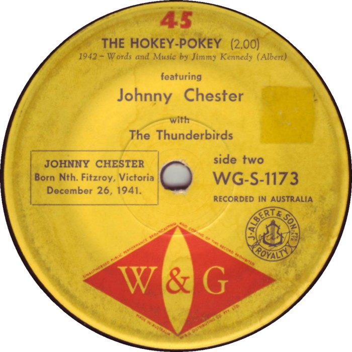 Hokey Pokey Warmer ~ From the vaults johnny chester born december