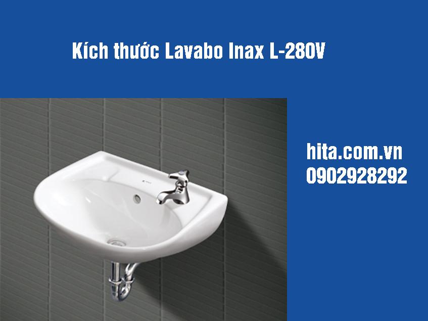 Kích thước, giá, đặc điểm lavabo Inax l-280v