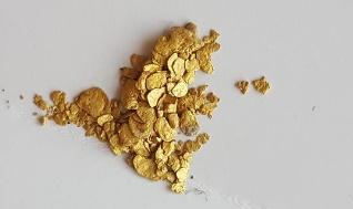 ouro em flocos do Alaska,USA