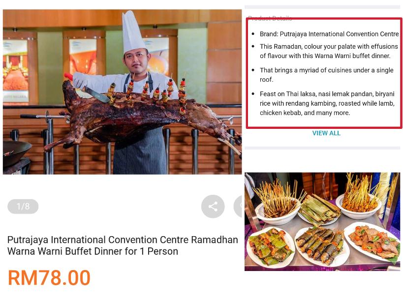 Promosi Bufet Ramadhan Lazada