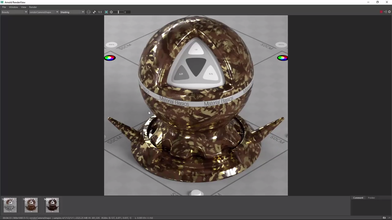 Creating a Chocolate Candy Shader In Arnold 5 With Maya 2017