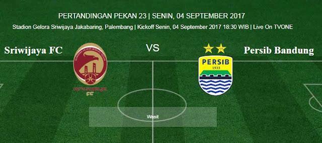 Sriwijaya FC vs Persib Bandung di Palembang Tanpa Bobotoh